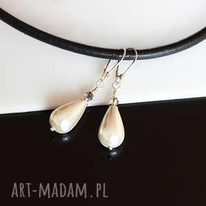 perłowe kropelki - kolczyki