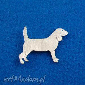handmade broszki broszka beagle pies nr