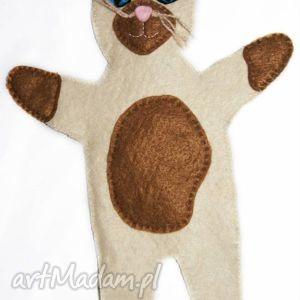 Filcowa pacynka kot - maskotka do kreatywnej zabawy zabawki