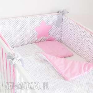 ochraniacz do łóżeczka sŁodkie sny róż - pokójdziewczynki