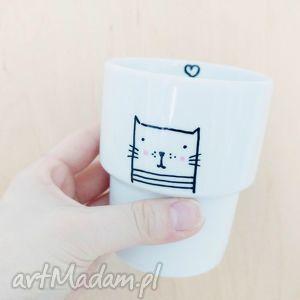 kubek bez ucha meow - ,kubek,kot,kotek,meow,cat,porcelana,