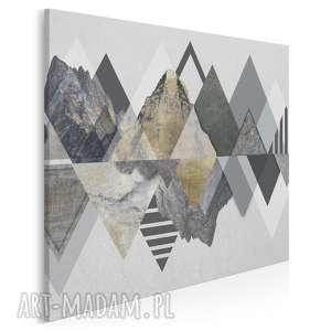 obraz na płótnie - góry trójkąty wzory w kwadracie 80x80