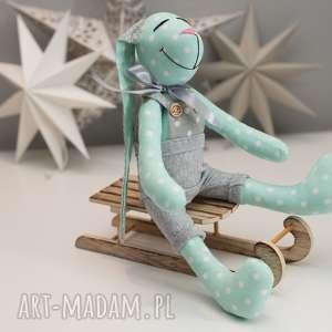 hand-made zabawki królik z imeiniem personalizacja prezent