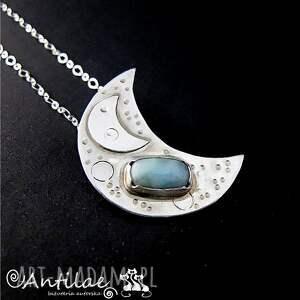 Lalin II - Larimar, srebro, naszyjnik, larimar, srebro
