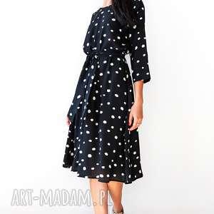 sukienki czarna sukienka w groszki