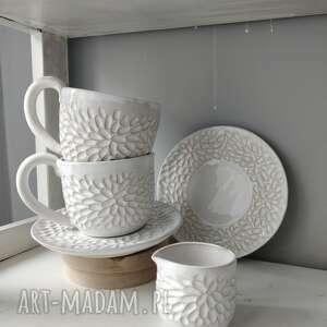 Zestaw dwóch filiżanek i dzbanuszka ceramika kate maciukajc