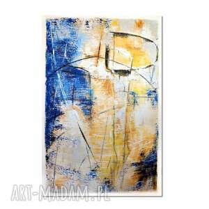 grot, abstrakcja, nowoczesny obraz ręcznie malowany