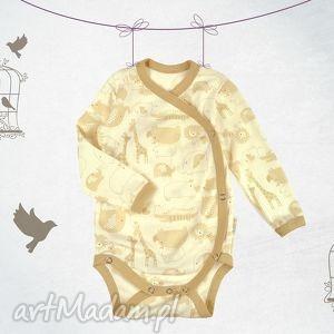 Bawełniane body niemowlęce kopertowe Zoo Safari, body, niemowlę