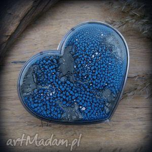 Ręcznie malowane plastikowe pudełko skóra niebieskiego smoka