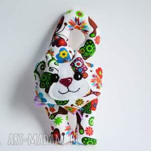 wyjątkowy prezent, kot klamkowy hania, kot, motyle, zawieszka, maskotka, kolorowy