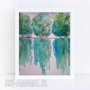drzewa-akwarela formatu a4, akwarela, papier, kredki, drzewa, farby