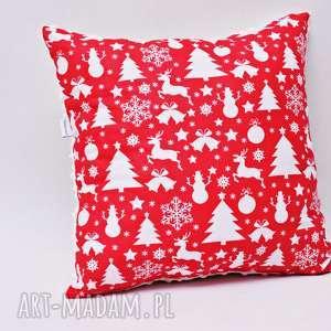 święta prezent Poduszka świąteczna poduszka ozdobna minky na choinki