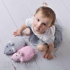 Przytulanka dziecięca myszka zabawki ateliermalegodesignu