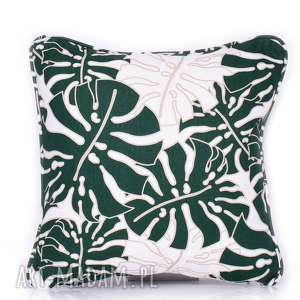 Poduszka Monstera Leaves - DEEP GREEN 40x40cm, monstera, poduszki, poduszka-monstera