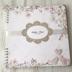ręcznie wykonane scrapbooking albumy album na ślub - księga gości