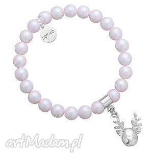 perłowa bransoletka z opalizujących pereł swarovski® crystal
