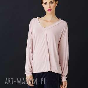 różowa bluzka ankona, bluzka, róż, wiskoza, dzianina, kimonowy, rękaw bluzki
