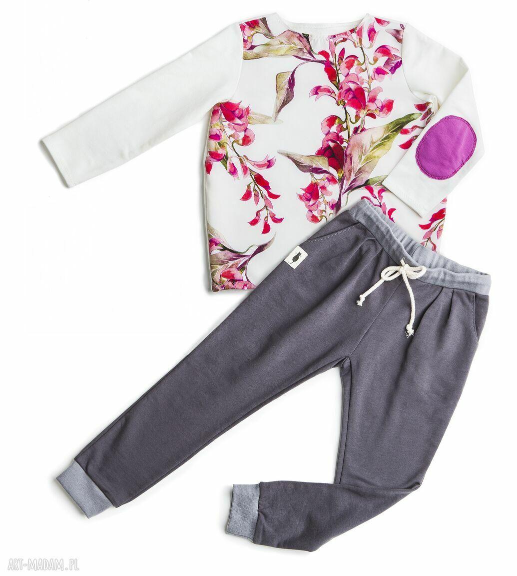 różowe ubranka bluzeczka bluzka bloom print