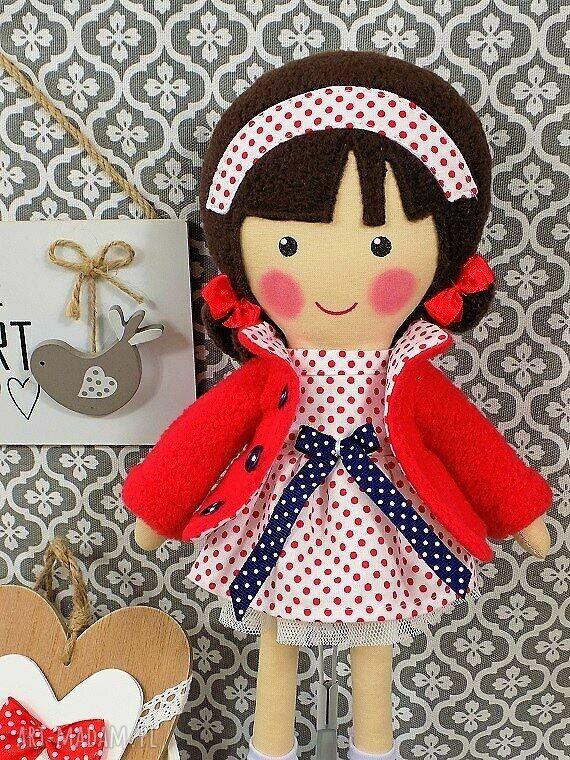 niebieskie lalki zabawka malowana lala martynka