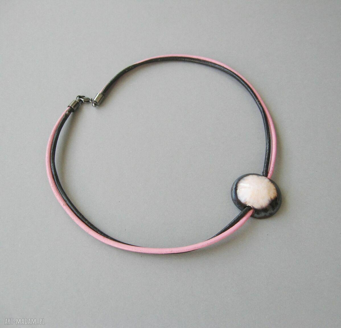 """ręcznie robione naszyjniki naszyjnik """"wytworna perła"""""""
