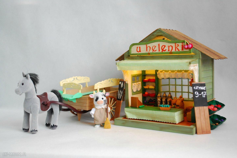 handmade zabawki domek dla lalek sklep