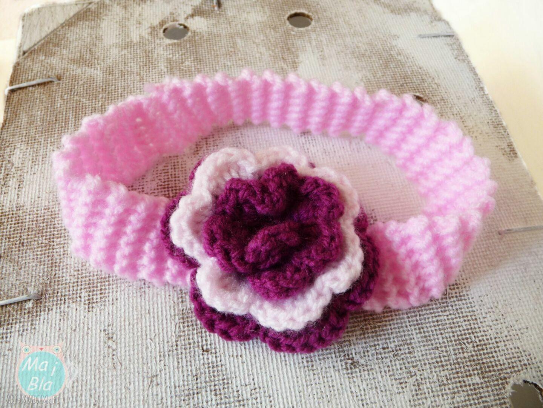 buciki komplet z dużym kwiatuszkiem