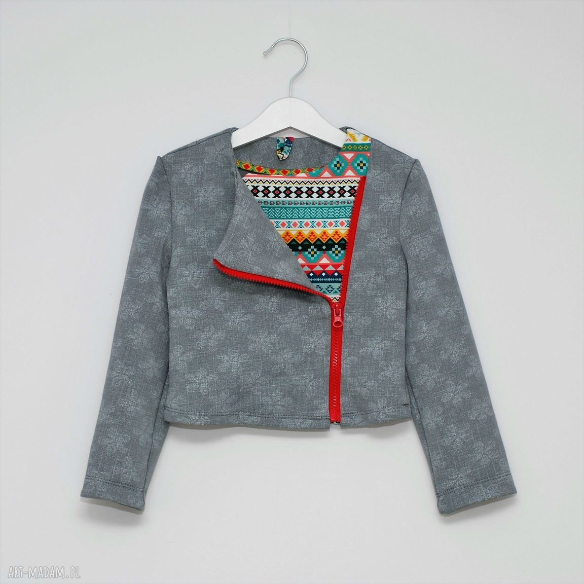 ręczne wykonanie ubranka bluza bawełniana ramoneska