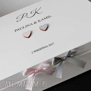 hand made księgi gości ślubne pudełko na koperty personalizowane