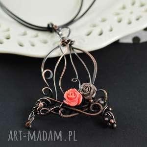 handmade naszyjniki romantic cage - naszyjnik z romantycznym retro wisiorem