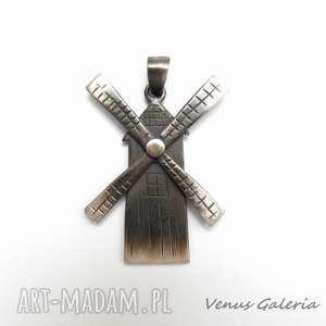 Wiatrak II - wisior srebrny, srebro, wisiorek, wiatrak, zawieszka, biżuteria, venus