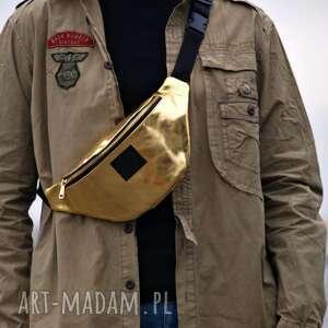 złoty lustro eco nerka, nerka, torebka duża przez ramie