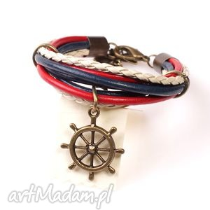 retro marine, marynistyczne, marynarskie, ster, lato, granatowa, unikalne
