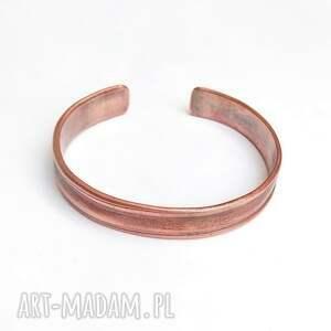 ręcznie zrobione bransoleta w stylu vintage, czysta miedź
