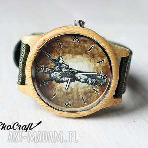 Drewniany zegarek z motywem militarnym SOLDIER, zegarek, drewniany, bambusowy