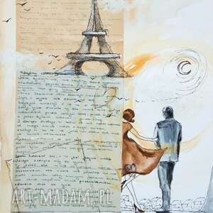 przeznaczenie collage artystki adriany laube z użyciem starego listu miłosnego