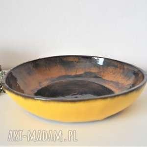 ręcznie wykonane ceramika ceramiczna misa - piasek pustyni