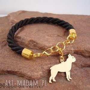 bransoletka boston terrier pies nr 100, bransoletka, pies, rasy psów, rękodzieło