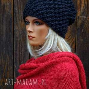 czapki czapka handmade nr 24, zimowa, wełniana czapka, ciepła zimowa
