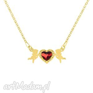 celebrate - cupid with heart - necklace g - ,amorek,serce,swarovski,walentynki,celebrytka,