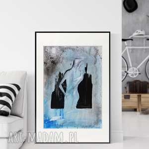 obraz ręcznie malowany 50 x 70 cm, nowoczesna abstrakcja
