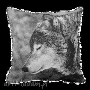 poduszka dekoracyjna wilk wolf skandynawski 6164, poduszka, poszewka