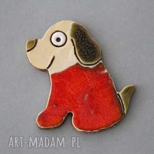 pod choinkę prezent, psinka - magnes ceramika, upominek, kolekcjoner, pies