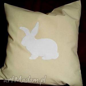 poduszki poduszka z zajączkiem, poduszka, poszewka, bawełna, świąteczna