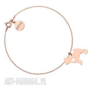 bransoletka z różowego złota psem rasy mops, bransoletka, pies, zwierzak