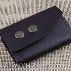 składany skórzany portfel, skóra, skórzany, grawer, prezent, urodziny