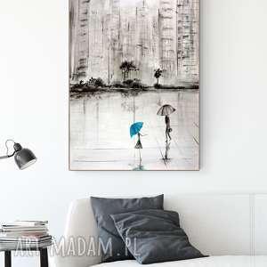 grafika 70 x 100 cm wykonana ręcznie, abstrakcja, elegancki minimalizm, obraz
