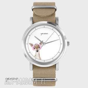 Prezent Zegarek, bransoletka - Sarenka beżowy, nato, zegarek, bransoletka, nato