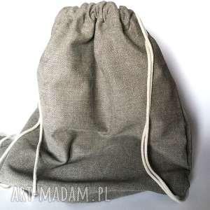 ruda klara duży beżowy plecak worek, plecak, duży, etno, rower, eco