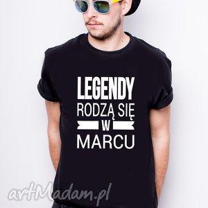 ręczne wykonanie koszulki koszulka męska legendy rodzą się w marcu