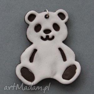 pandka-zawieszka ceramiczna, prezent, upominek, urodziny, imienieny, słodka